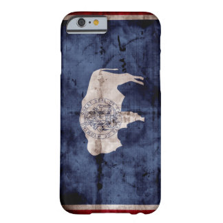 Weathered Wyoming Flag Barely There iPhone 6 Case