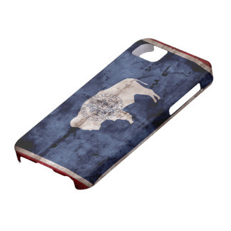 Weathered Wyoming Flag iPhone 5 Case