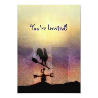 "Weathervane Sunrise Invitation 5"" X 7"" Invitation Card"