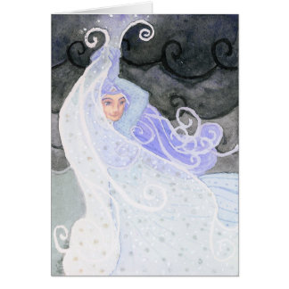 """""""Weatherwoman: Snowstorm"""" Greeting and Note Cards"""