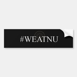#WEATNU 'Black Bumper sticker with Antenna'