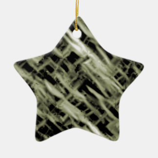 Weave Ceramic Star Decoration