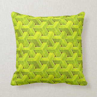 Weave in light green cushion