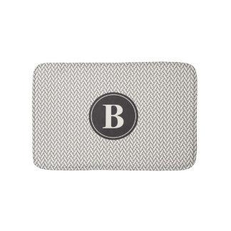 Weave Pattern Monogram Bath Mat