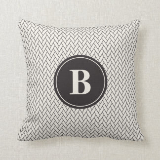 Weave Pattern Monogram Cushion