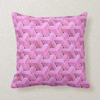 Weave pink cushion