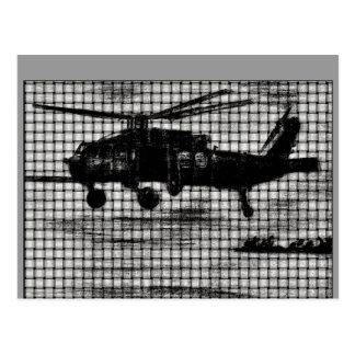 Weaved Chopper Postcard