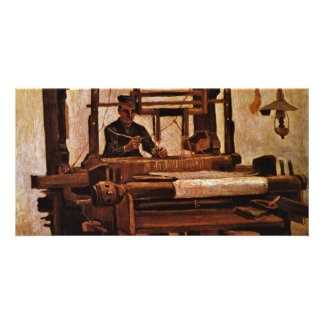 Weaver At The Loom By Vincent Van Gogh Personalized Photo Card