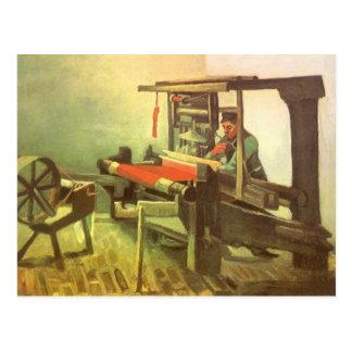 Weaver Facing Left Spinning Wheel Vincent van Gogh Postcard
