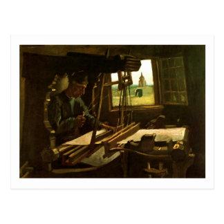 Weaver Near an Open Window Van Gogh Fine Art Postcard