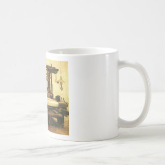 Weaver,Seen from the front 1884, Vincent van Gogh. Classic White Coffee Mug
