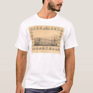Weaverville, CA. Panoramic Map 1856 (1846A) T-Shirt