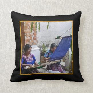 Weaving in Antigua Cushion