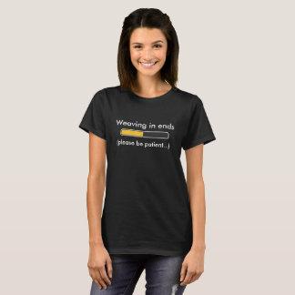 Weaving in ends status bar t-shirt