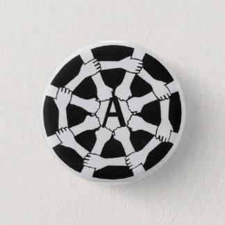 web a logo 3 cm round badge