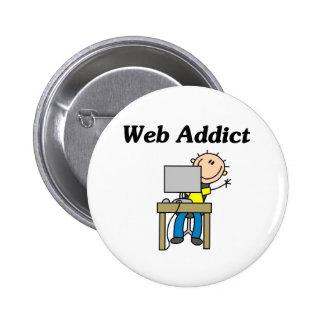 Web Addict 6 Cm Round Badge