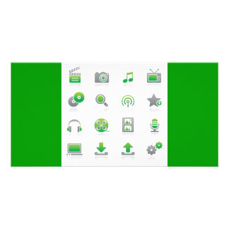 Web and Internet Icons6 Customized Photo Card