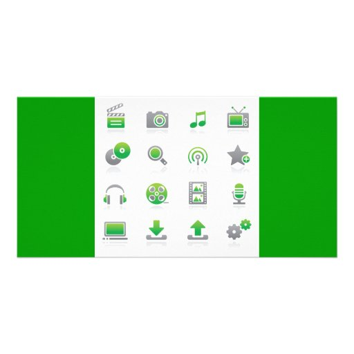 Web and Internet Icons6 Picture Card