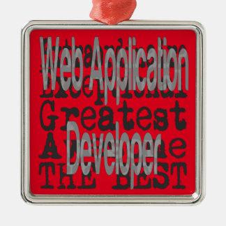 Web Application Developer Extraordinaire Metal Ornament