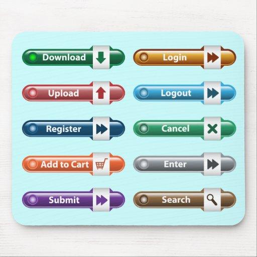 Web buttons Mousepad