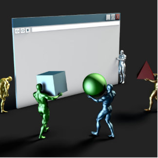 Web Design Services and Business Website Photo Sculpture Badge