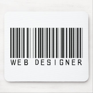 Web Designer Bar Code Mouse Pad