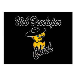 Web Developer Chick #4 Postcard