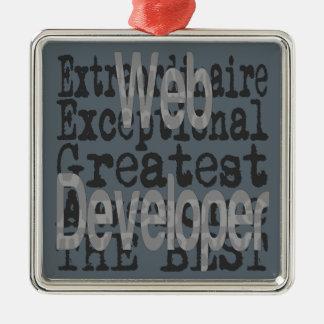 Web Developer Extraordinaire Metal Ornament