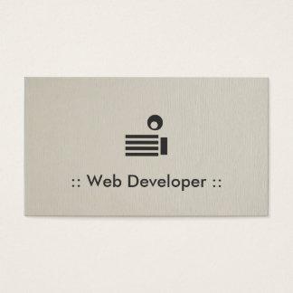 Web Developer Simple Elegant Professional Business Card