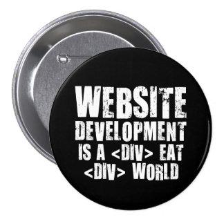 Web Development: A DIV EAT DIV World 7.5 Cm Round Badge