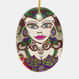 """""""Web Mistress"""" Ceramic Ornament"""