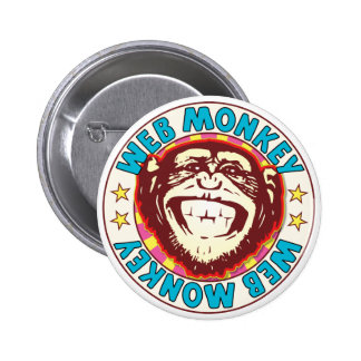 Web Monkey 6 Cm Round Badge