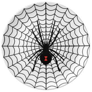 Web Of Death Decorative Porcelain Plate