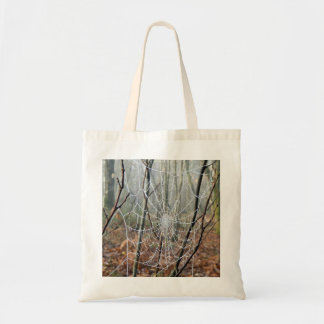 Web of European Garden Spider Tote Bag