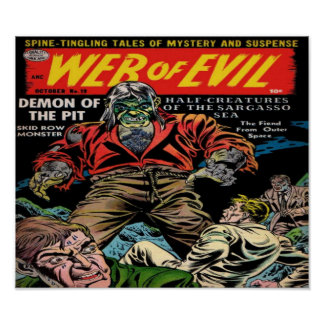 Web of Evil Comic Book Poster