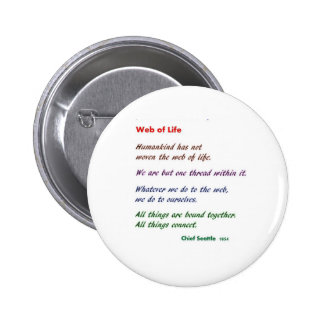 Web of Life : Native American Wisdom Pinback Buttons