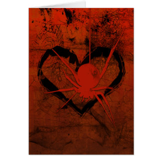 Web Of Love Gothic Valentine's Card