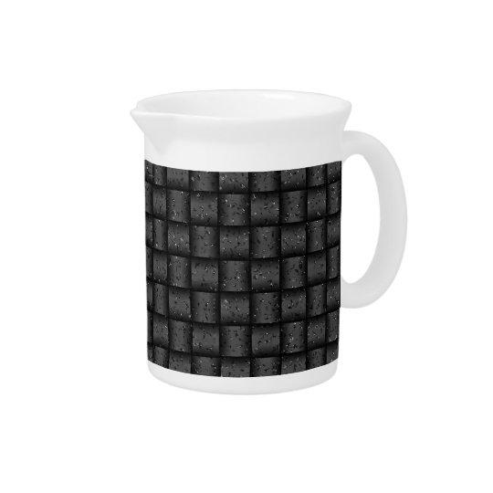 Web optics - anthracite coal beverage pitchers