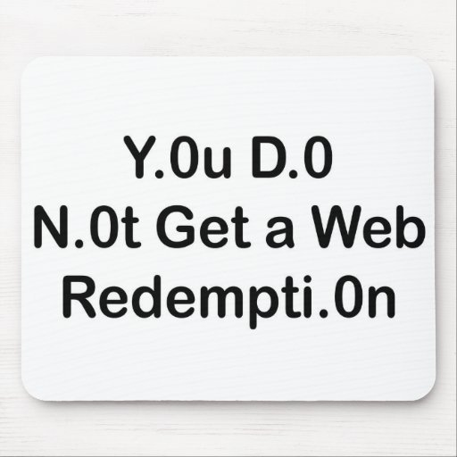 Web Redemption Mouse Pad