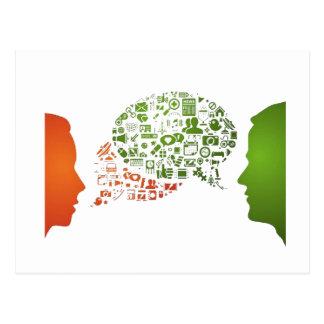 Web talk - Communication Postcard