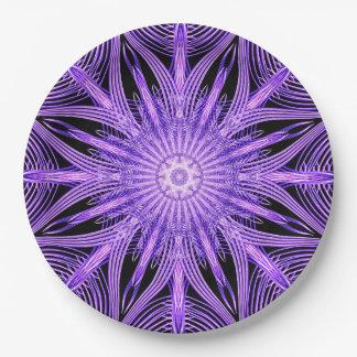 Web Way Mandala 9 Inch Paper Plate
