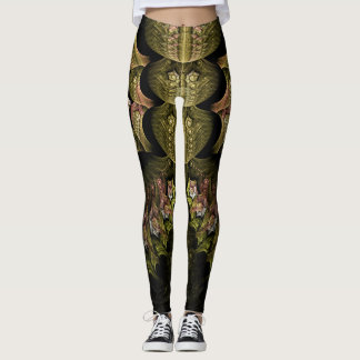 Webbed Fractal Design Leggings