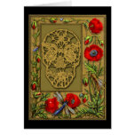 Webbed Skull Day of the Dead Halloween Gothic Greeting Card