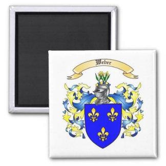 Weber Heraldry Family Crest Square Magnet