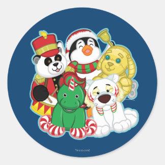 Webkinz Holiday Pets Classic Round Sticker