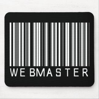 Webmaster Bar Code Mouse Pad