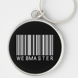 Webmaster Bar Code Silver-Colored Round Key Ring