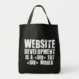 Website development is a competitive career choice grocery tote bag