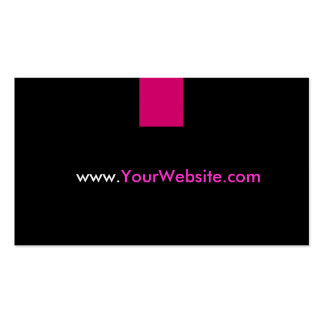 Website Promotion Advertisement - Pink Style Business Card Template
