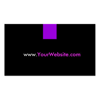 Website Promotion Advertisement - Purple Style Pack Of Standard Business Cards